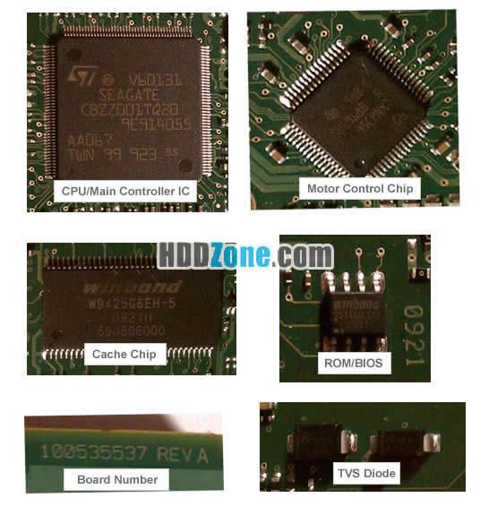 Hard Drive PCB Components III