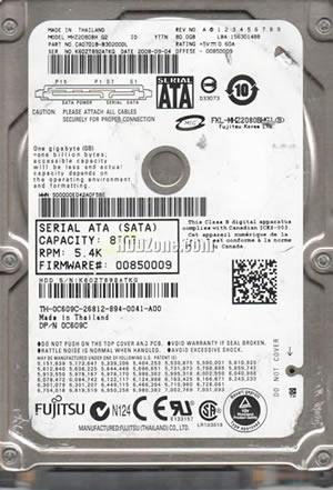 PN CA07018-B45200JP MHZ2080BH G2 Fujitsu 80GB SATA 2.5 Hard Drive