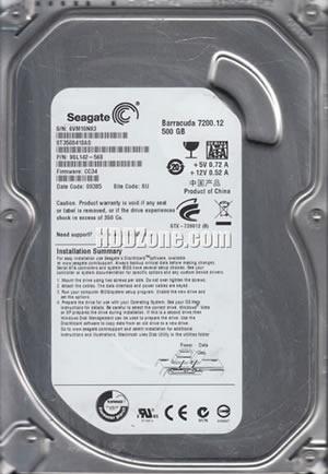 Seagate ST3500418AS P//N 9SL142-241 F//W AP2E TK 500GB