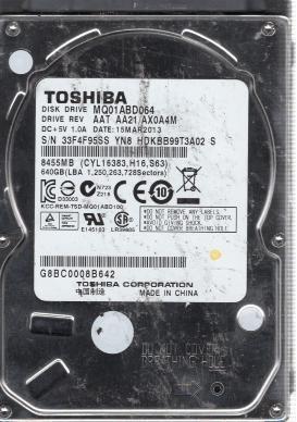TOSHIBA HDD PCB//Logic Board //PCB Board Number G003138A