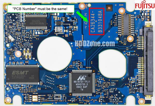 Fujitsu HDD PCB