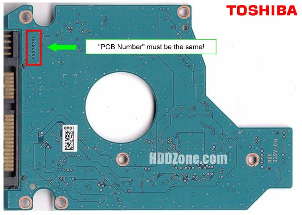 Toshiba HDD PCB