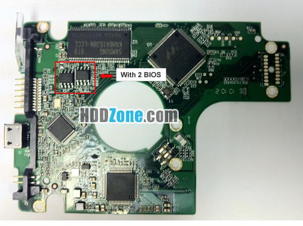 WD5000BMVV WD PCB 2060-701675-004 REV A / REV P1