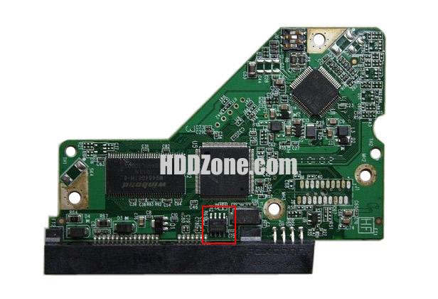 2060-771590-001 REV A / P2 carte PCB disque dur western digital