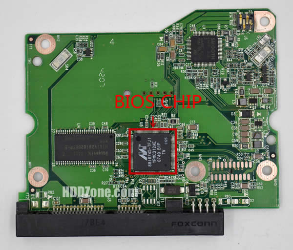 2060-701474-002 REV A carte PCB disque dur western digital