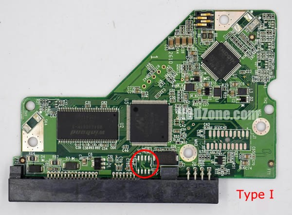 2060-701590-001 REV A carte PCB disque dur western digital