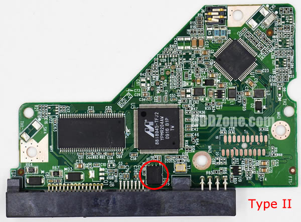 WD10EADS WD PCB 2060-701640-001 REV A