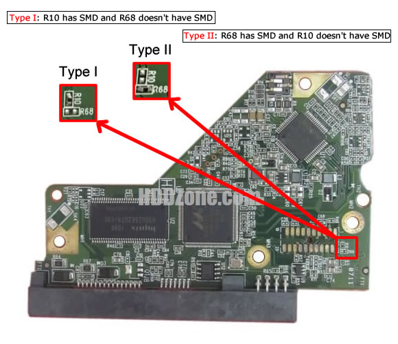 WD1600AAJS WD PCB 2060-771640-003 REV A / REV P1 / REV P2