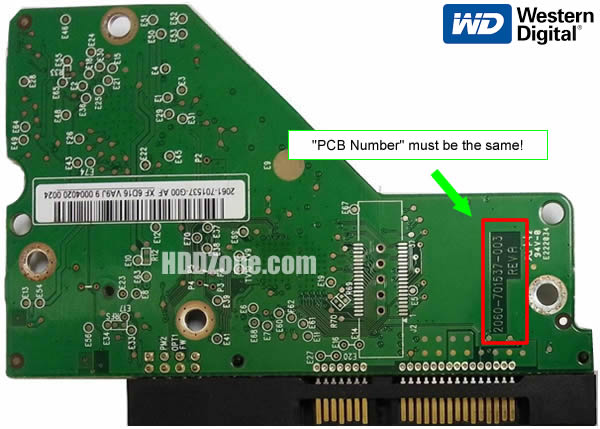Western Digital HDD PCB